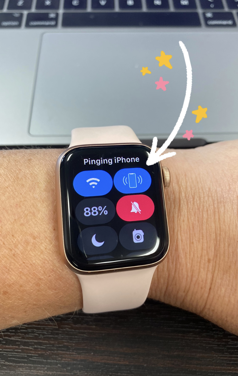 Find My Phone feature icon on Apple Watch