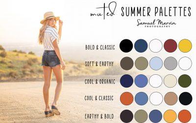 Summer Color Palettes for Senior Portraits